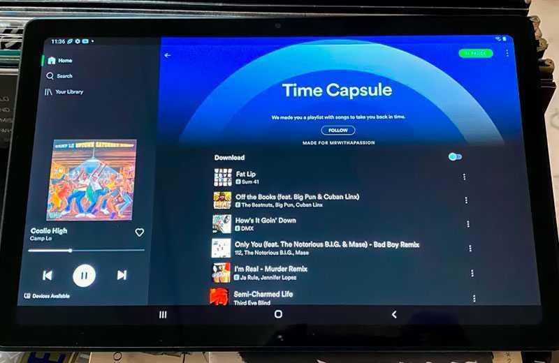 Samsung Galaxy Tab A7 звук