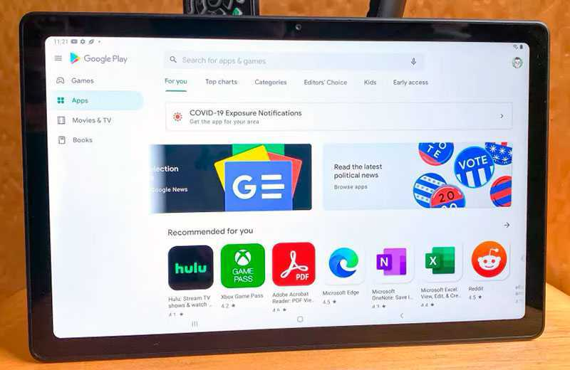 Samsung Galaxy Tab A7 приложения