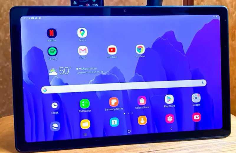 Samsung Galaxy Tab A7 экран