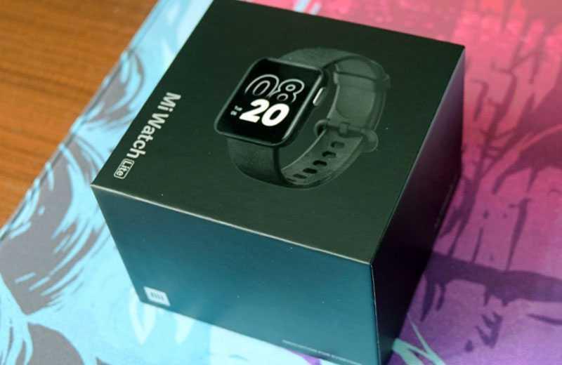 Xiaomi Mi Watch Lite из коробки