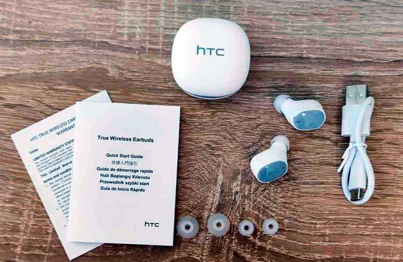 HTC True Wireless из коробки