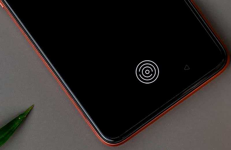 Realme X7 5G сканер в экране