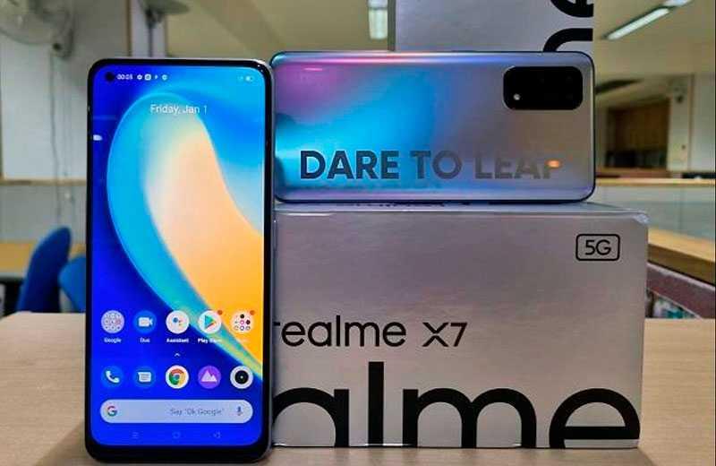 Realme X7 5G из коробки