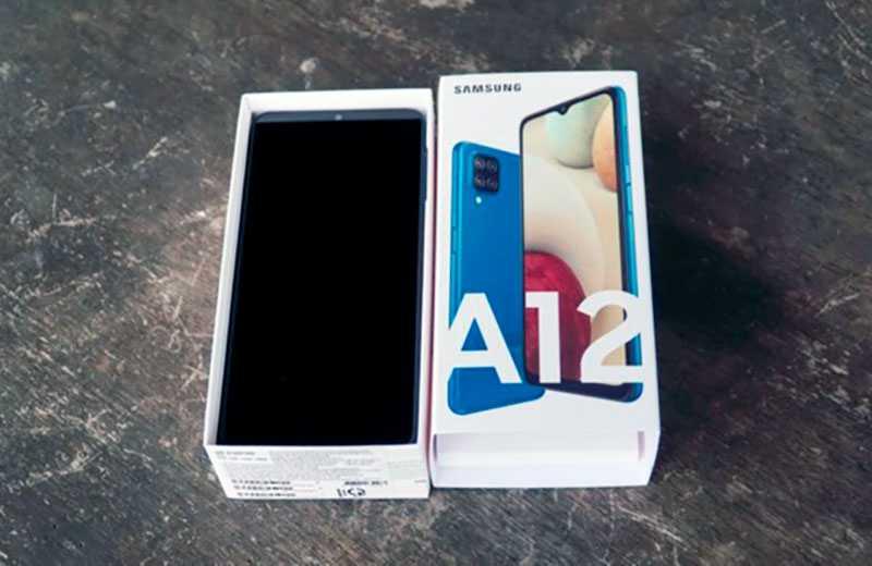 Samsung Galaxy A12 из коробки
