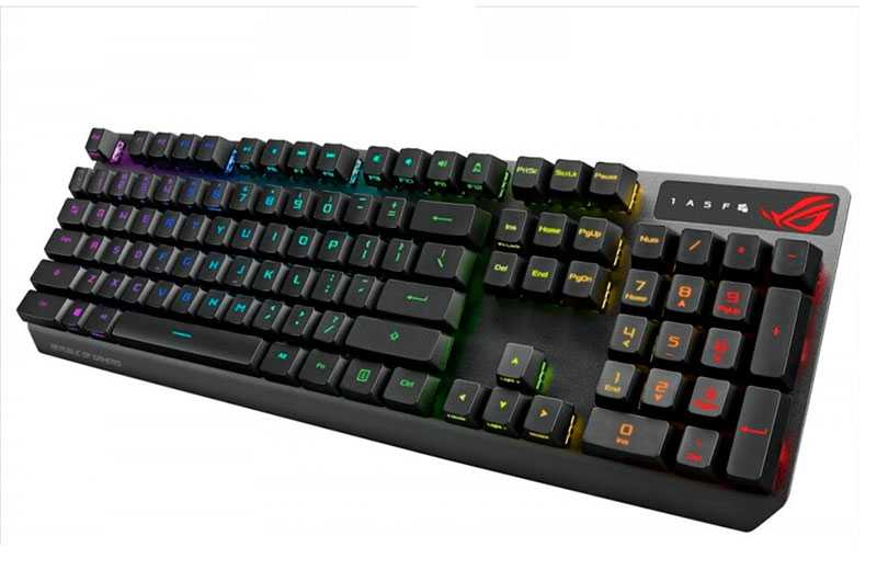 Asus ROG Strix Scope RX – лучшая клавиатура с подсветкой оптико-механического типа