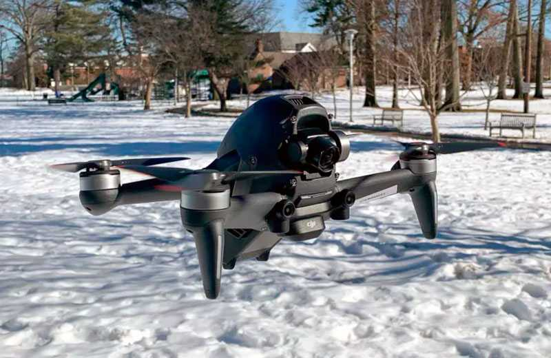 Полёы на DJI FPV Drone