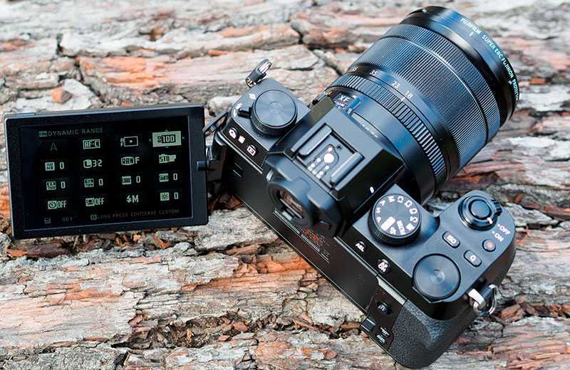 Fujifilm X-S10 дисплей камеры