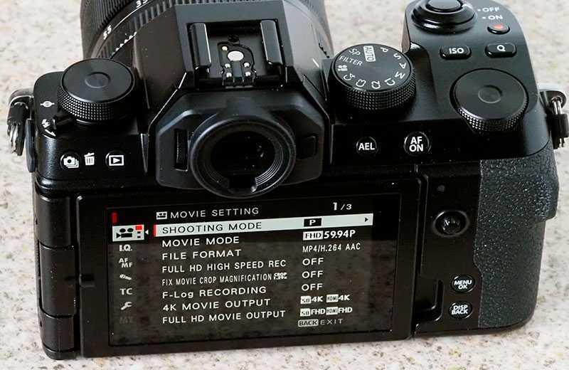 Fujifilm X-S10 видоискатель