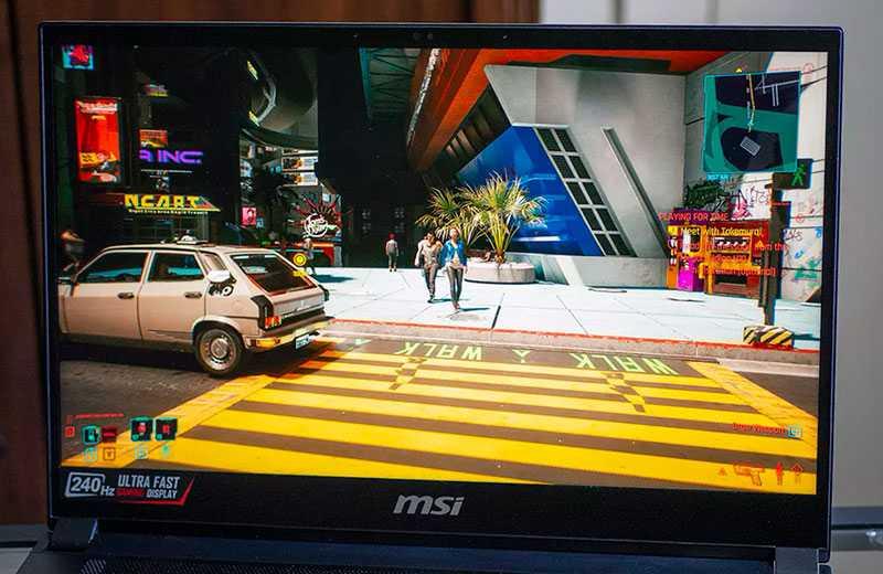 MSI GS66 Stealth (2021) тест видеокарты