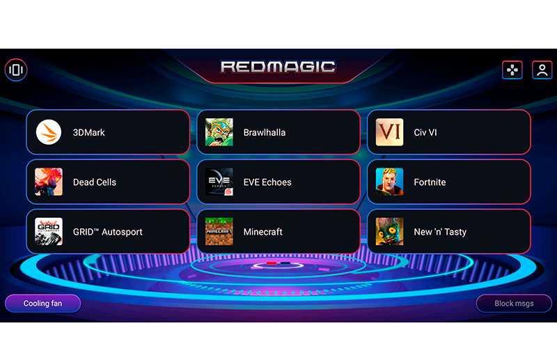 Nubia Red Magic 5S игровой режим