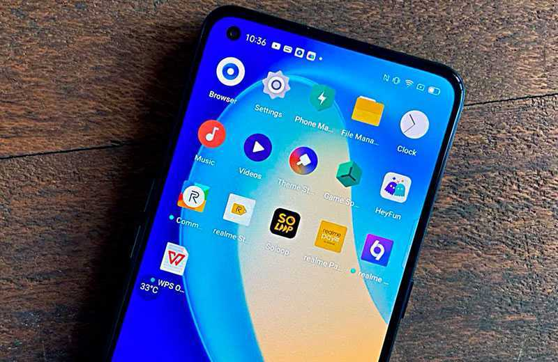 Экран Realme X7 Pro