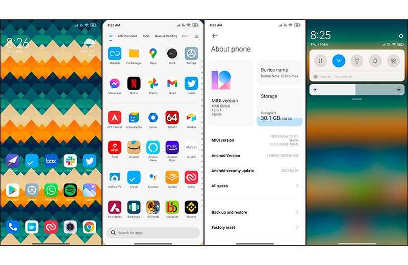 Xiaomi Redmi Note 10 Pro Max ПО