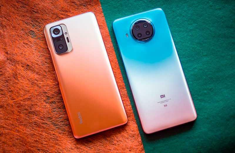Сравнение Xiaomi Redmi Note 10 Pro Max