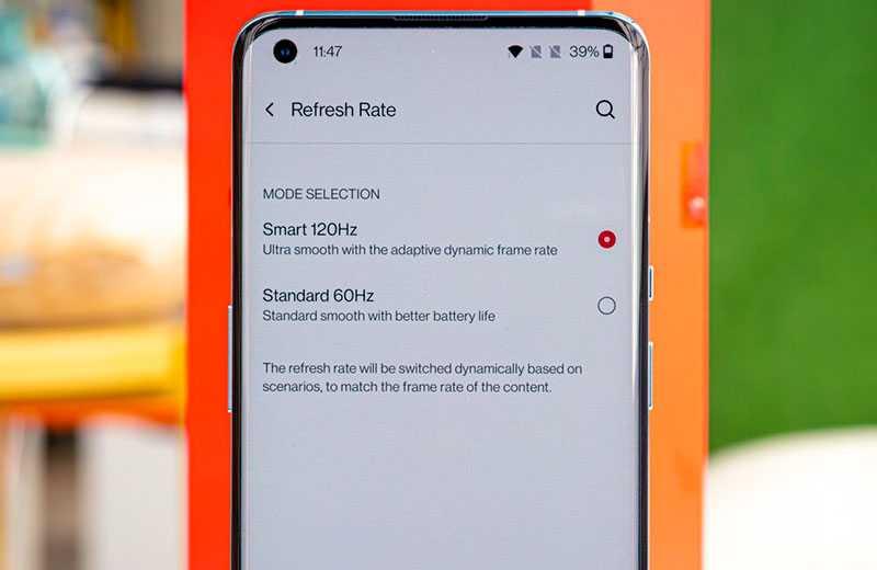 OnePlus 9 Pro экран 120 Гц