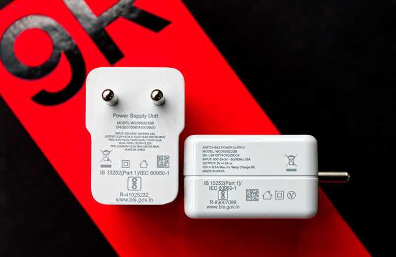 Зарядные OnePlus 9R и 8T