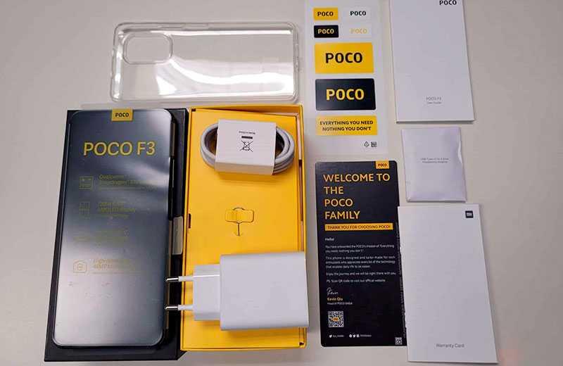 Poco F3 распаковка и комплектация