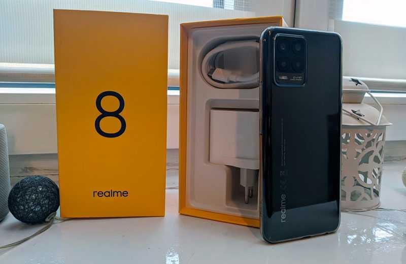 Realme 8 из коробки