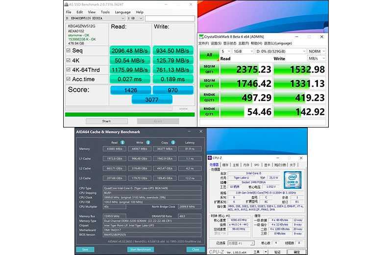 Тесты памяти RedmiBook Pro 15