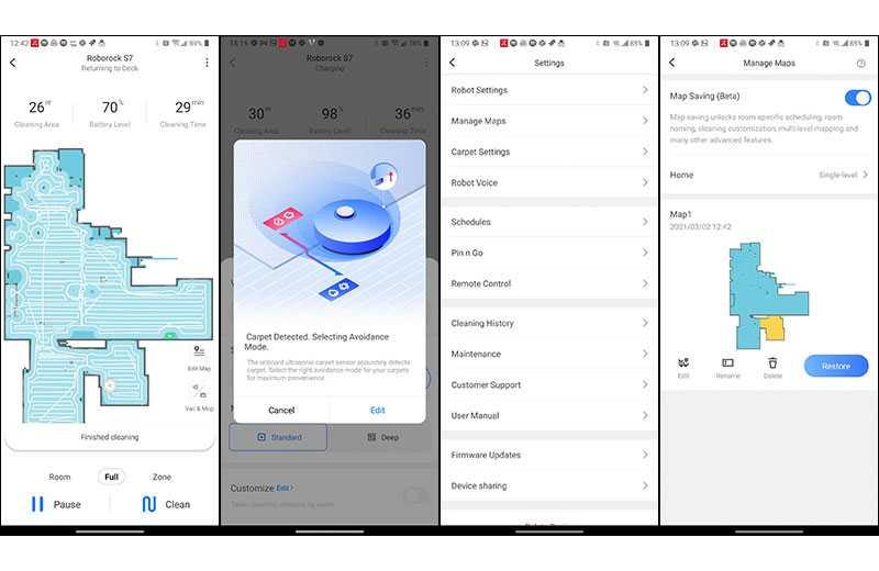 Roborock S7 приложения