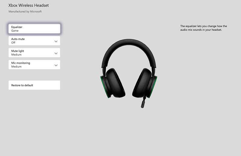 Приложение Xbox Wireless Headset