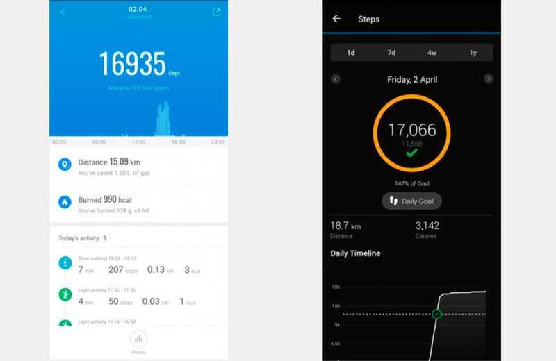 Xiaomi Mi Band 6 мониторинг шагов