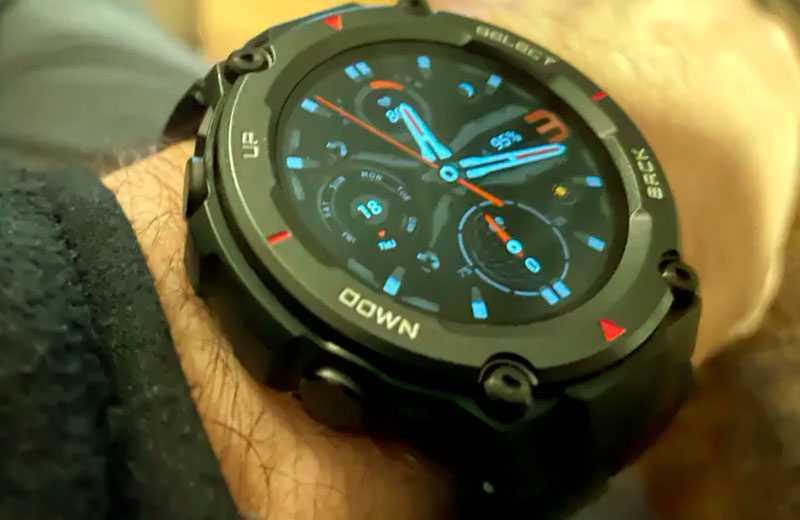 Amazfit T-Rex Pro защищённые часы