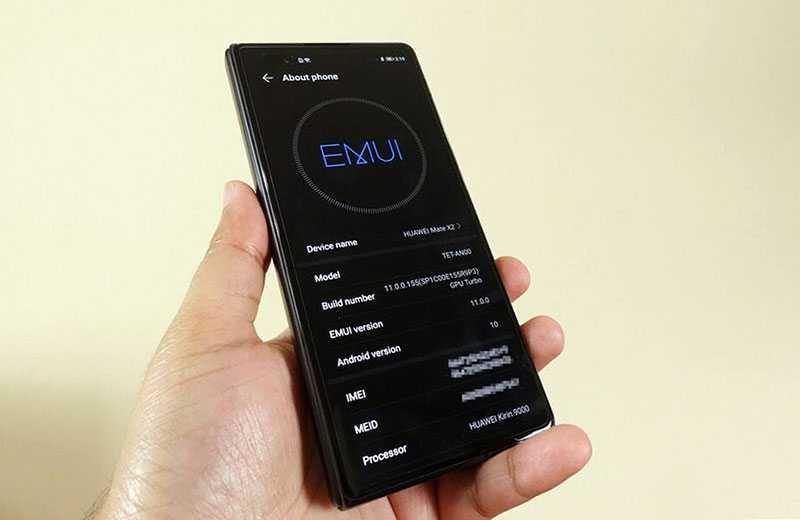 Система Huawei Mate X2