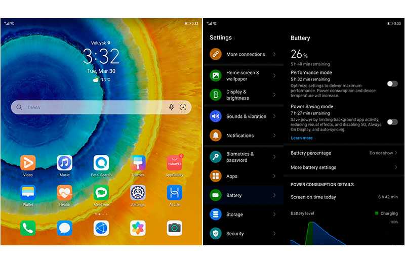 ПО в Huawei Mate X2