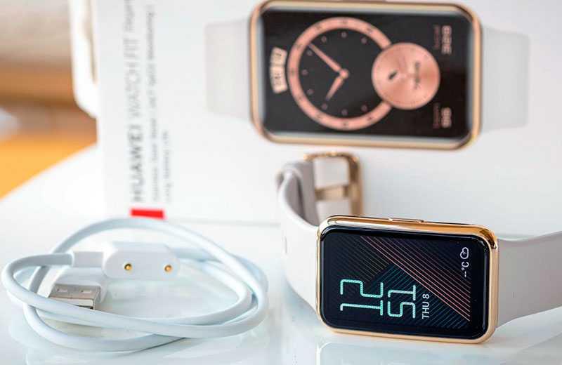 Huawei Watch Fit Elegant из коробки