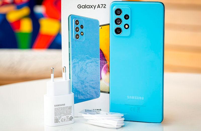 Samsung Galaxy A72 из коробки