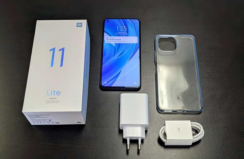 Комплектация Xiaomi Mi 11 Lite и распаковка