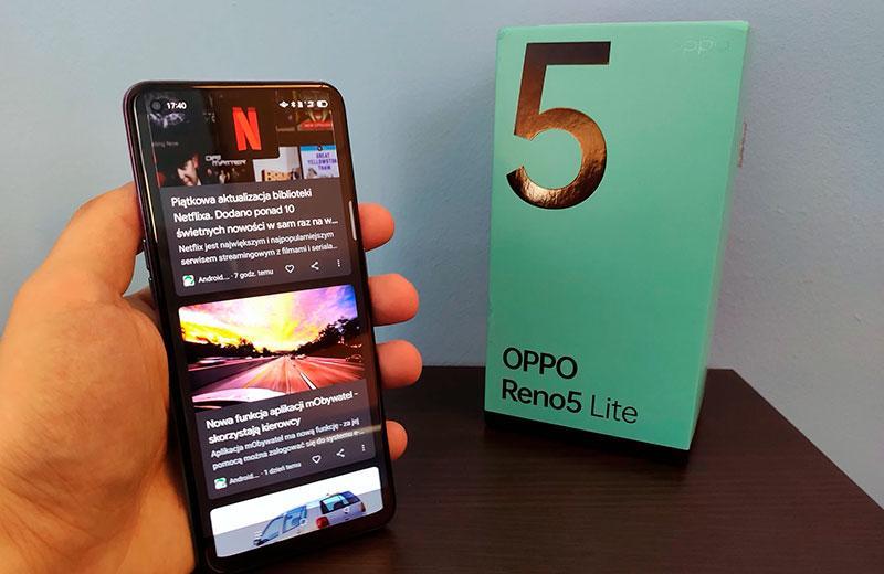 Oppo Reno 5 Lite дисплей