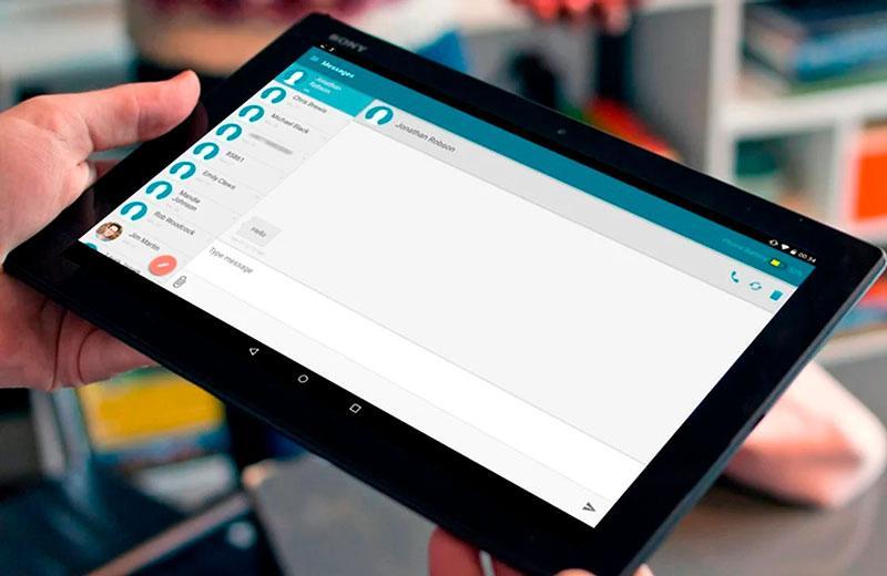 Можно ли отправлять SMS с планшета?