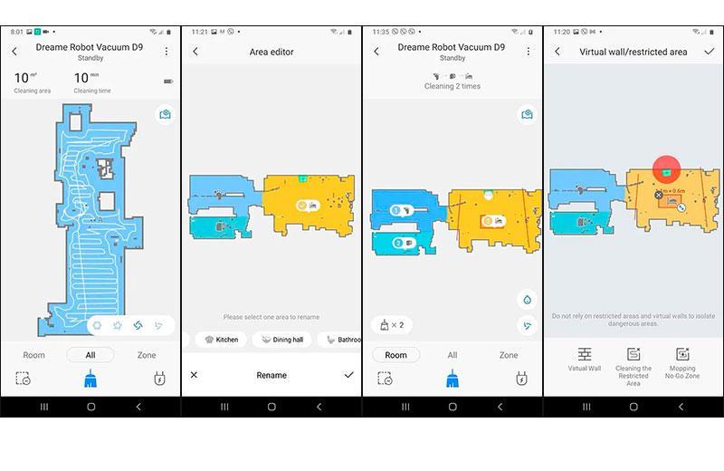 Xiaomi Dreame D9 построение карт
