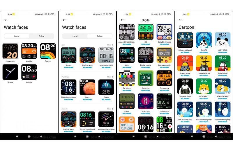 Xiaomi Redmi Watch циферблаты