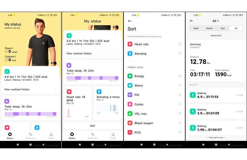 Xiaomi Redmi Watch тренировки