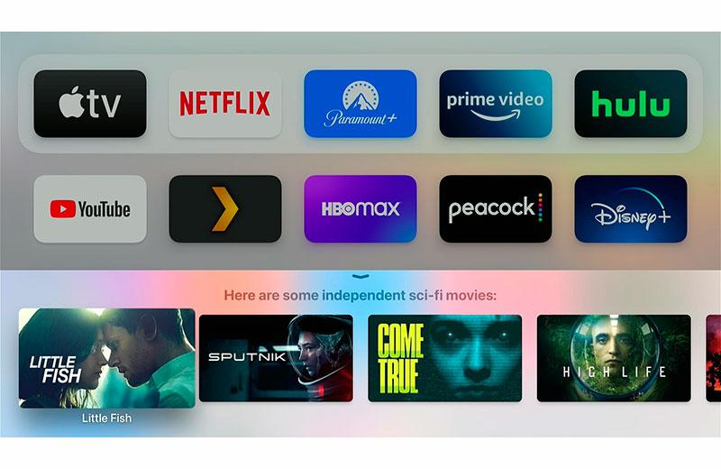 Интерфейс Apple TV 4K (2021)