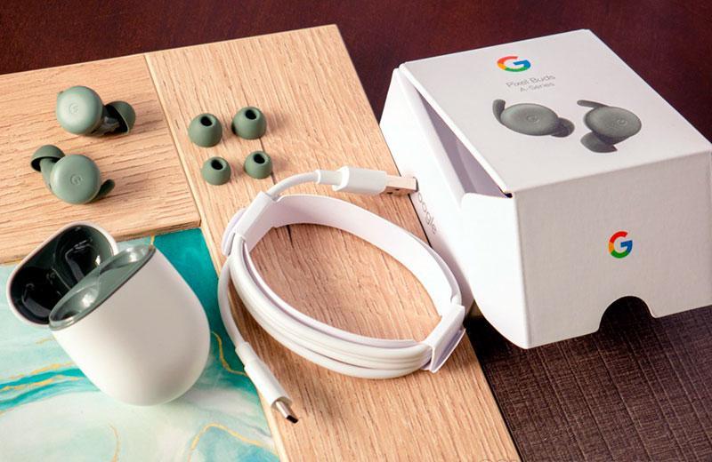 Google Pixel Buds A-Series из коробки
