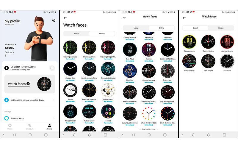 Цмферблаты Xiaomi Mi Watch