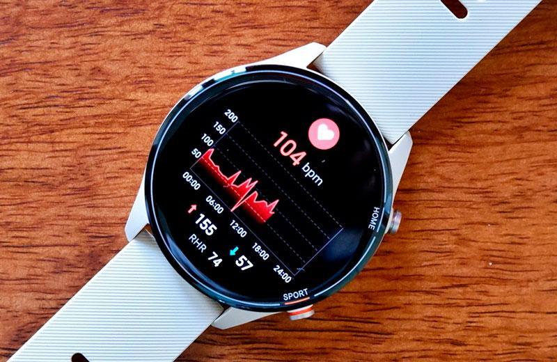 Xiaomi Mi Watch подсчёт ЧСС