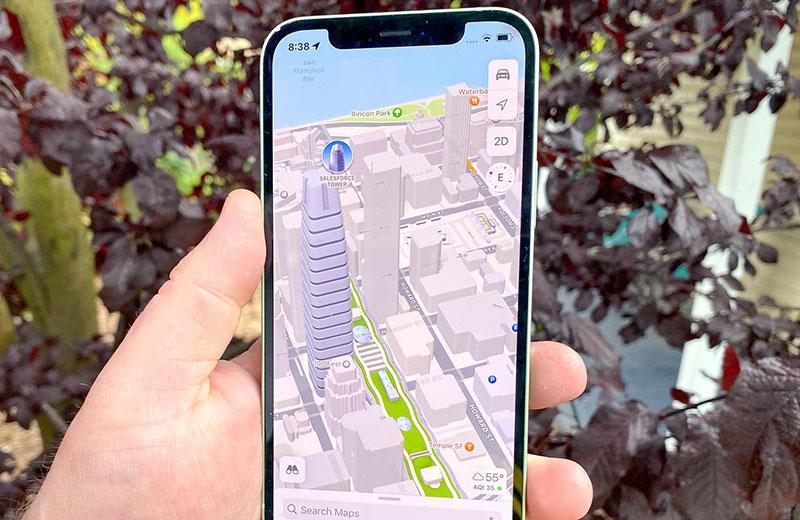 iOS 15 3D карты