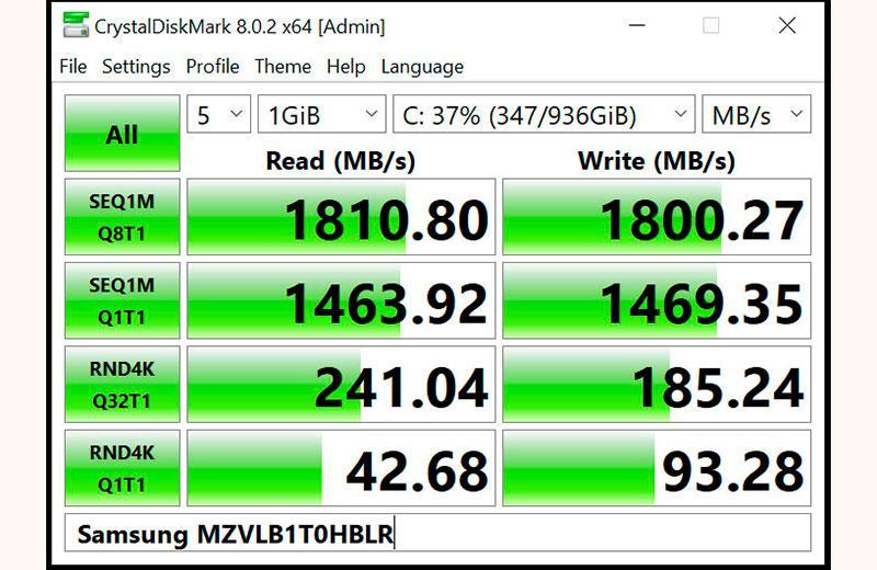 Razer Blade 14 (2021) SSD