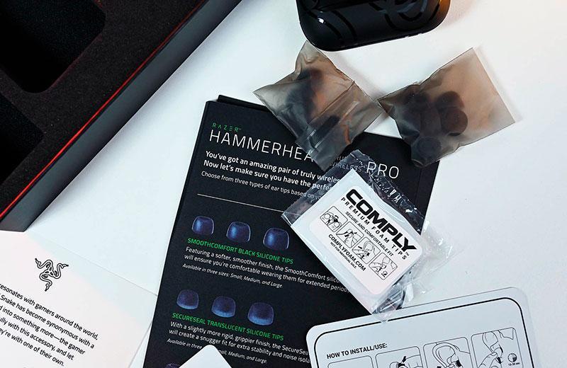 Распаковка Razer Hammerhead True Wireless Pro