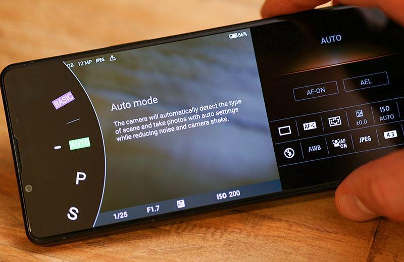 Приложение камеры Sony Xperia 1 III