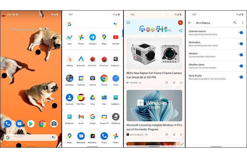Google Pixel 5a 5G ПО