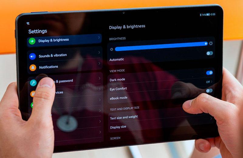 Huawei MatePad 11 настройки экрана