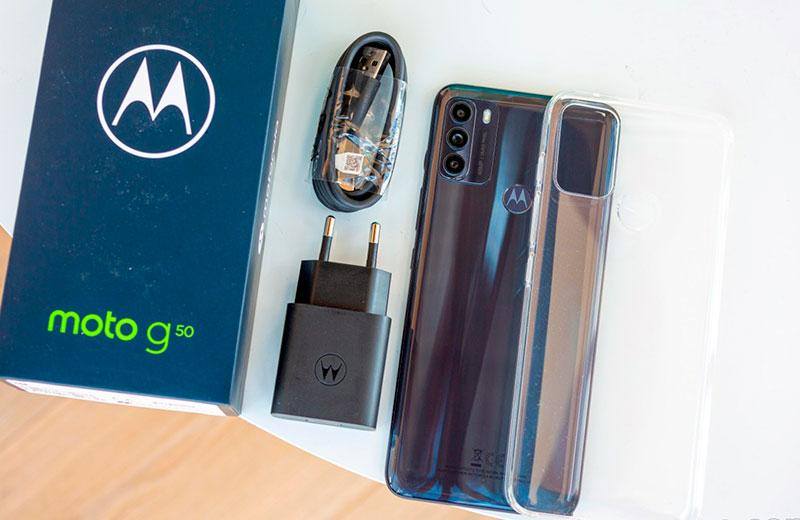 Распаковка Motorola Moto G50