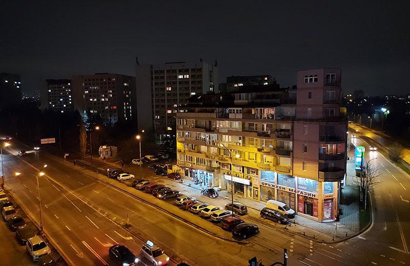 Ночной режим съёмки Samsung Galaxy A42