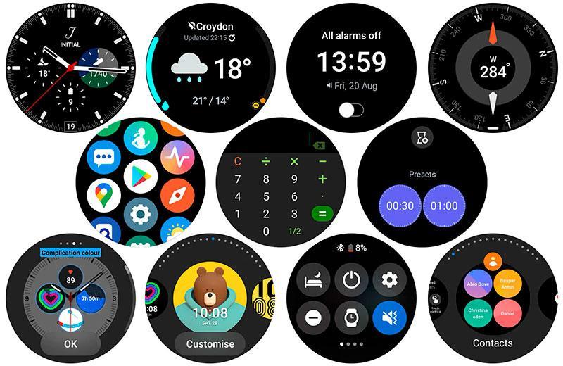 Заставки Samsung Galaxy Watch 4