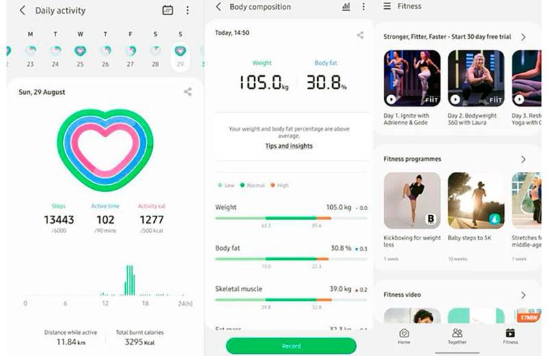 Приложение для Samsung Galaxy Watch 4